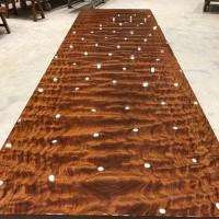 **巴花实木大板办公桌书桌会议桌茶桌红木家具值得收藏