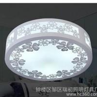 LED田园白木吸顶灯 卧室房间灯 镂空雕花无极调光
