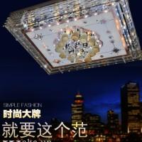 新款现代简约LED客厅灯水晶吸顶灯长方形灯具灯饰