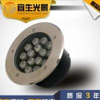 15W 圆形LED地埋灯 广场防水草坪埋地灯 地插射灯照明