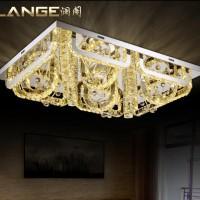 现代简约水晶led吸顶灯客厅灯长方形水晶灯大气卧室餐厅灯具