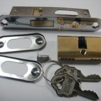 华南锁业大队长554B铝合金门锁平开门锁移门锁防盗锁趟门锁移门锁