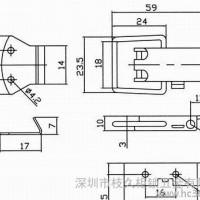 工业柜锁 开关柜锁 电柜门锁 NO34-3 C-46